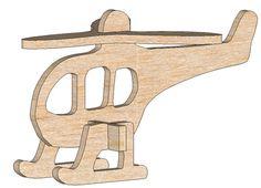 Helicopter Mini Puzzle - Mini Puzzles   MakeCNC.com