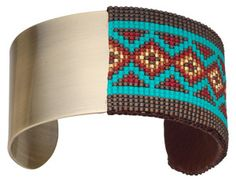 Loom Work - 9627 - Fire Mountain Gems and Beads. How to attach a loomed bracelet to blank steel cuff