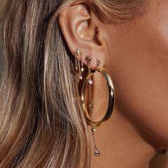 Ear Jewelry, Jewelery, Geode Jewelry, Cartilage Earrings, Stud Earrings, Guys Ear Piercings, Silver Ear Cuff, Luv Aj, 1 Piece