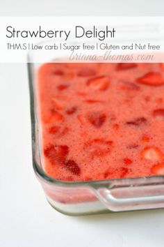 Here's a healthy strawberry delight recipe! Trim Healthy Mama:S, Low carb, Sugar free, Gluten and Nut free