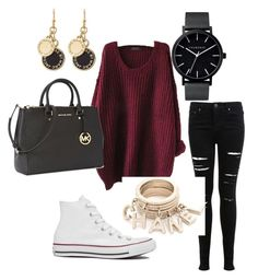 Untitled #65 by jaskew11 on Polyvore featuring polyvore, fashion, style, Miss Selfridge, Converse, Michael Kors, The Horse, Marc by Marc Jacobs and clothing