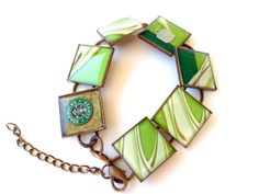 Resin Jewelry Recycled jewelry Starbucks by lifeaccessories, $18.00
