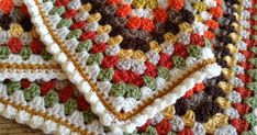 Learn how to add this cute bobble edging to your crochet blanket...