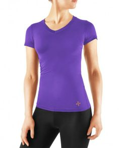 fb094b7223373 Tommie Copper Women s Recovery Compression Short Sleeve Shirt Plum l  49.50  Compression Shorts