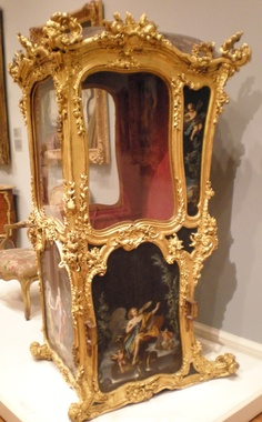 Sedan Chair, French early 18thc.