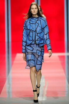 Christopher Kane optical geometric layering