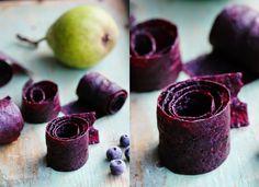 Päron, Lakrits & Blåbärsremmar / Pear, Liquorice & Blueberry Fruit Leather - Evelinas Ekologiska http://www.evelinasekologiska.se/