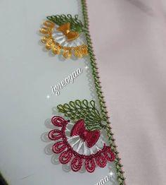 Hayırlı Cumalar herkese modelimizi kurduk eklenecek iki renk daha var siz beğenilerinizi yaparken ben tamamlayıp geliyim karşınıza 🤗 .… Needle Tatting, Tatting Lace, Needle Lace, Crochet Edging Patterns, Crochet Motif, Woolen Craft, Crazy Quilt Stitches, Crochet Shell Stitch, Quilt Stitching