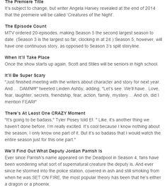 Teen Wolf Season 5 Spoilers: 10 Things We Know So Far part 1