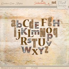 Collections :: G :: Garden Gate by SnickerdoodleDesigns & Mel Designs :: Garden Gate Alpha