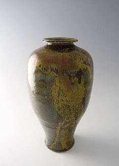 Tall Vase, Celadon and Iron Yellow glaze Brother Thomas 1998 Ceramic Pottery, Pottery Art, Pottery Ideas, Ceramic Materials, Tall Vases, Ceramic Artists, Modern Art, Original Artwork, Brother