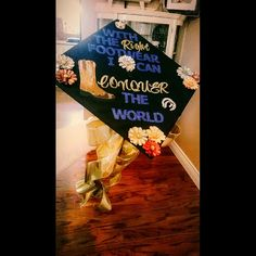 Super easy Country themed graduation cap