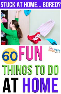 If you're stuck at home today, here are some meaningful things you can do around the house to make a difference in your own household. From DIY activities for adults to clever ways to make some extra money. we've got you covered! Nursing Home Activities, Activities For Adults, Activities For Kids, Boredom Busters For Adults, Ae Words, Birthday Party At Home, Birthday Ideas, Home Maintenance Schedule, Things To Do At Home