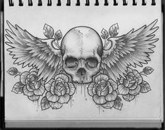 I totally dig this, but with lotus flowers and a sugar skull?