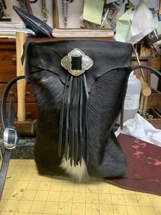 Crossbody Hair-on-Cow Leather Bags