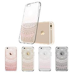 iPhone 6 Case, iPhone 6 Clear Case Pink Henna, protective, TPU bumper+Hard back