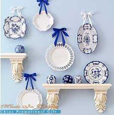 Hanging plate patterns.