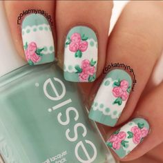 Lace and flower nail art ===== Check out my Etsy store for some nail art supplies https://www.etsy.com/shop/LaPalomaBoutique
