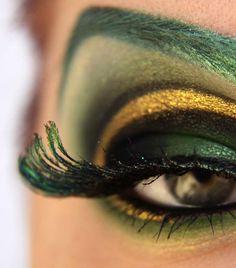Loki eye makeup.