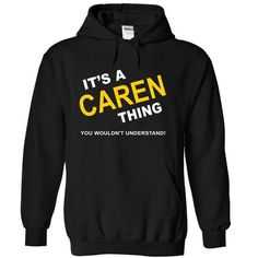 Its A Caren Thing - #striped tee #hoodie and jeans. BUY TODAY AND SAVE   => https://www.sunfrog.com/Names/Its-A-Caren-Thing-hkvvm-Black-10793114-Hoodie.html?id=60505