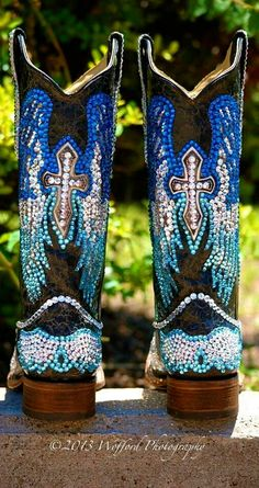 My boots with Swarovski crystals.
