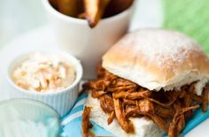 Pulled pork has never been so easy to make. This simple recipe shows you step by step how to turn your cut of pork into mouth-watering pulled pork. Serve with coleslaw and homemade chips.Get the recipe: Pulled pork Easy Pulled Pork, Pulled Pork Recipes, Healthy Bbq Recipes, Burger Recipes, Meat Recipes, Slow Cooker Recipes, Cooking Recipes, Slow Cooking, Uk Recipes