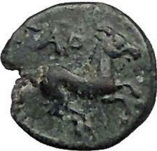 GARGARA in TROAS 350BC Apollo Horse RARE TINYAuthentic Ancient Greek Coin i56057