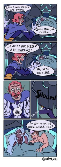 "crownflame: "" Flat Comic commission for @jaksandrow. Friends + Voltron + ???…"