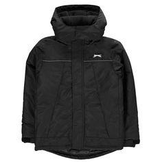 Slazenger Weather Jacket Junior Boys Black School Outfits, Kids Outfits, Nike Jacket, Raincoat, Boys, Long Sleeve, Sleeves, Jackets, Clothes