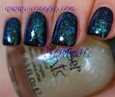 """LOVE these """"flakie"""" nail polishes from Finger Paints!!!!"""