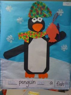 January Idea Page - Penguins, snowmen, winter animals, snowglobes, etc.