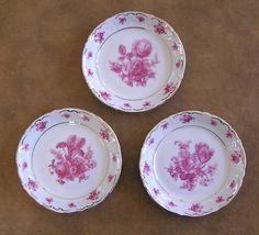$24.95  5-Vintage Bavaria Schumann China Butter Pats-3 Designs