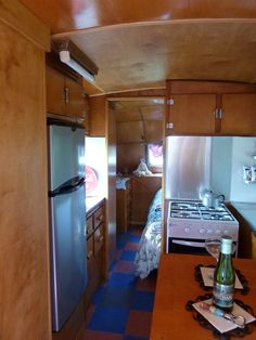 Wow, a vintage 1949  Vagabond Trailer...We can just imagine a tasty Toas-Tite grilled cheese being served up in this retro trailer.  Brings back great memories of our family vacations on the road!