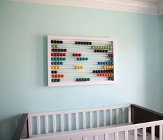DIY abacus wall art