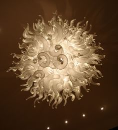 Blown away by this hand-blown glass chandelier.