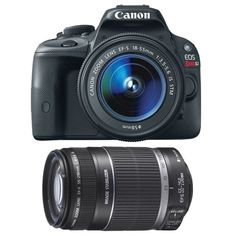 Canon EOS Rebel SL1 18.0 MP CMOS Digital SLR with 18-55mm EF-S IS STM Lens + Canon EF-S 55-250mm f/4.0-5.6 IS... - Listing price: $1,099.00 Now: $799.00