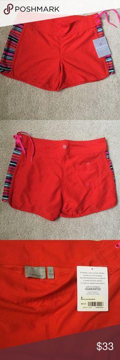 New Athleta swim surf Sz 2 shorts Ne Athleta Santa Cruz swim surf shorts Sz 2 red . Athleta Swim