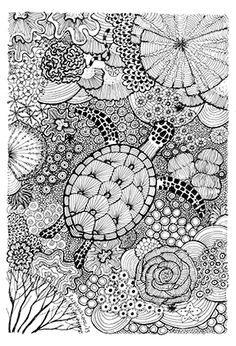 Pattern for coloring book sleeping baby artistically ethnic turtle dive july 2013 pronofoot35fo Image collections
