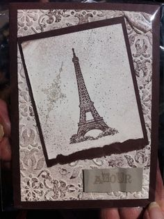 Stampin' Up Vintage card