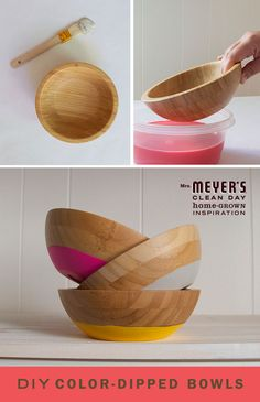 Add a pop of color to your kitchen with these color-dipped bowls. This DIY is easy as can be and is a bright way to organize small countertop trinkets.