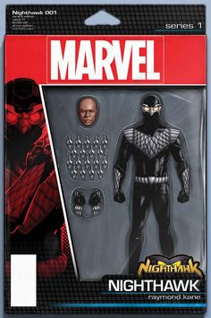 Nighthawk #1 Action Figure Variant Cover by John Tyler Christopher