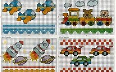 fenefas infantiles de punto de cruz - Bing images