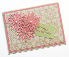 Mother's Day Card with Pink Flowers by TerrysCards on Etsy, $3.00
