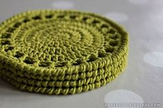 Ravelry: Citrus Coaster pattern by Dona Knits. Free pattern.