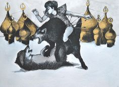 the golden part of russian dark fairy tales by saba niknam, via Behance