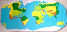 Edukacyjna mata - Mapa Świata - niepowtarzalna! w szamaman na DaWanda.com
