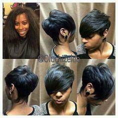 Black Hair Information – Natural Hair, Curly Hair, Relaxed Hair, Hairstyles Short Sassy Hair, Cute Hairstyles For Short Hair, Pretty Hairstyles, Short Hair Cuts, Short Hair Styles, Pixie Cuts, Relaxed Hairstyles, Short Pixie, African Hairstyles