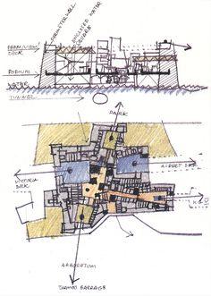 \ Floor Plans, Diagram, Hand Painted, Landscape, Urban, Scenery, Corner Landscaping, Floor Plan Drawing, House Floor Plans