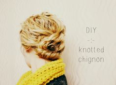 Taming Rapunzel knotted chignon easy mom hair
