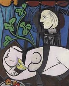 Nude, Green Leaves and Bust is a 1932 painting by Pablo Picasso, featuring his mistress Marie-Thérèse Walter. The painting was in the personal collection of Los Angeles art collectors Sidney and Frances Brody for nearly six decades. Pablo Picasso, Kunst Picasso, Art Picasso, Picasso Paintings, Oil Paintings, Jackson Pollock, Most Expensive Painting, Expensive Art, Edvard Munch